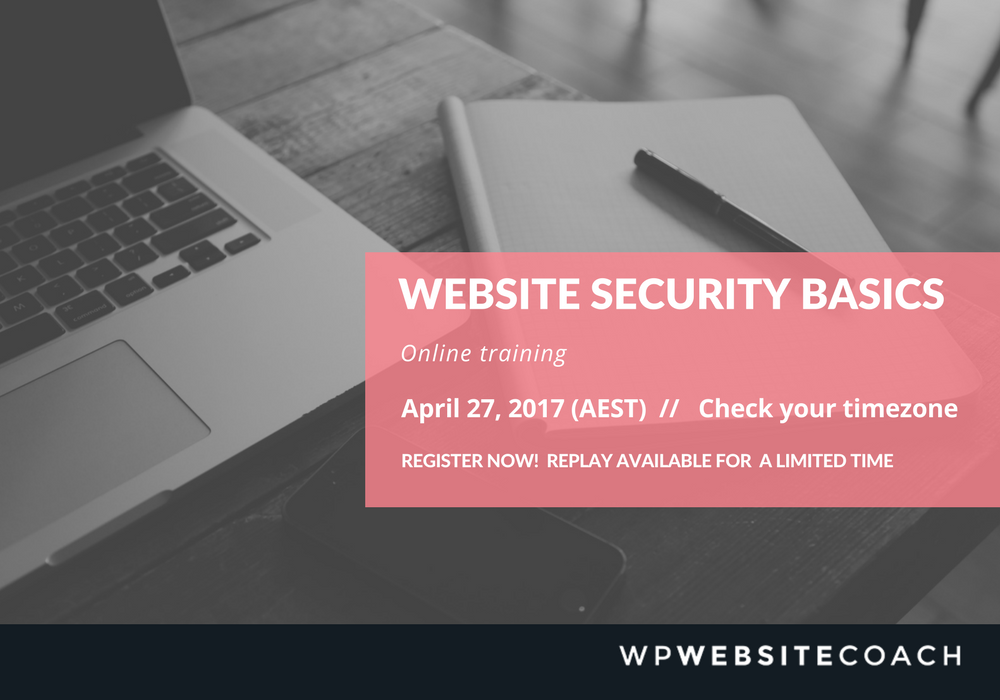 Website Security Basics Online Training